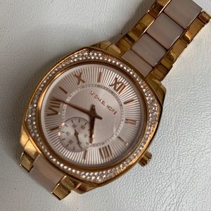 Michael Kors Rose Gold Two Tone Watch